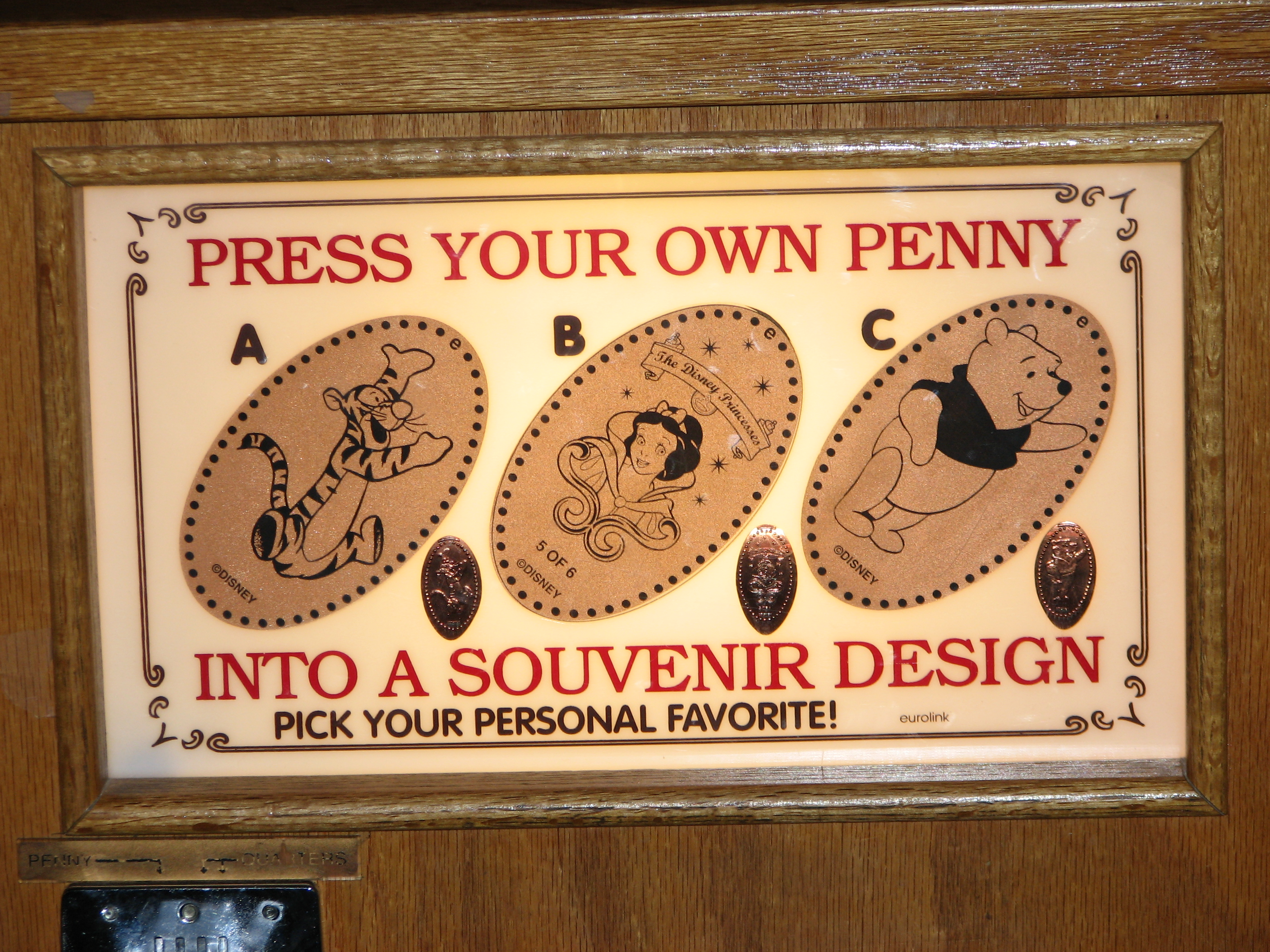Wilderness Lodge Penny Smasher choices