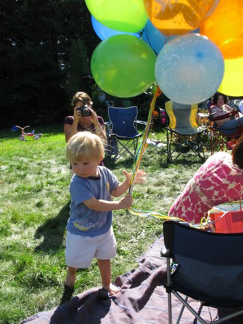 Milo Grabs the Balloons