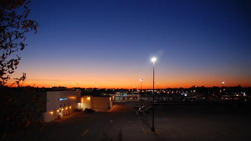 sunset sky retail mall shopping twilight parkinglot streetlight indiana richmond waynecounty waynecountyindiana