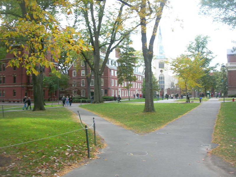 Harvard Yard, Harvard University Campus, Cambridge Massachusetts, Sunday October 19, 2008 - 075