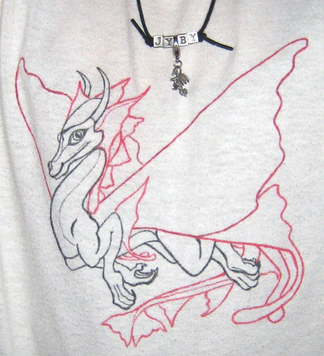 JyBy Necklace & Dragon teeshirt