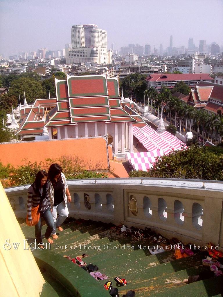Thailand Riverside Markets and Floating Markets Near Bangkok Tour Golden Mount and City View Wat Temple Phu Khao Tong