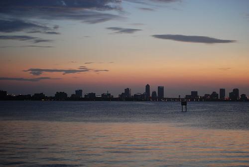 skyline sunrise nikon florida jacksonville stjohnsriver d80