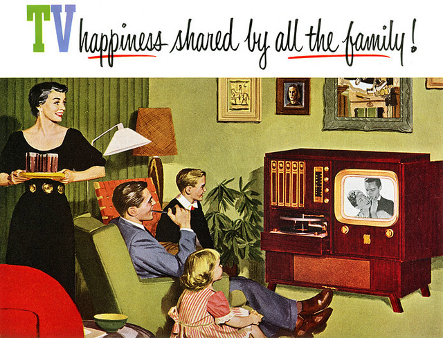 "Motorola TV Ad 1951 | Where the whole ""its okay for TV to ra… 