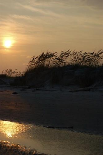 sunset beach nature