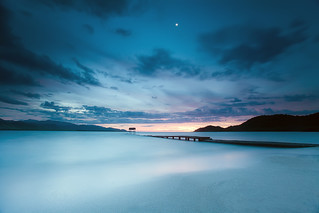 Smooth blue hour under the moon ( National Geographic photo of the day! ) | by Dan. D.