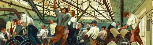 William Gropper: Automobile Industry (mural study, Detroit, Michigan Post Office), 1940-1941