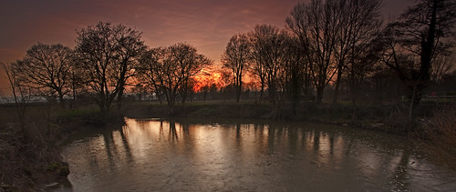 trees sunset england river sussex east mills ouse lewes barcombe