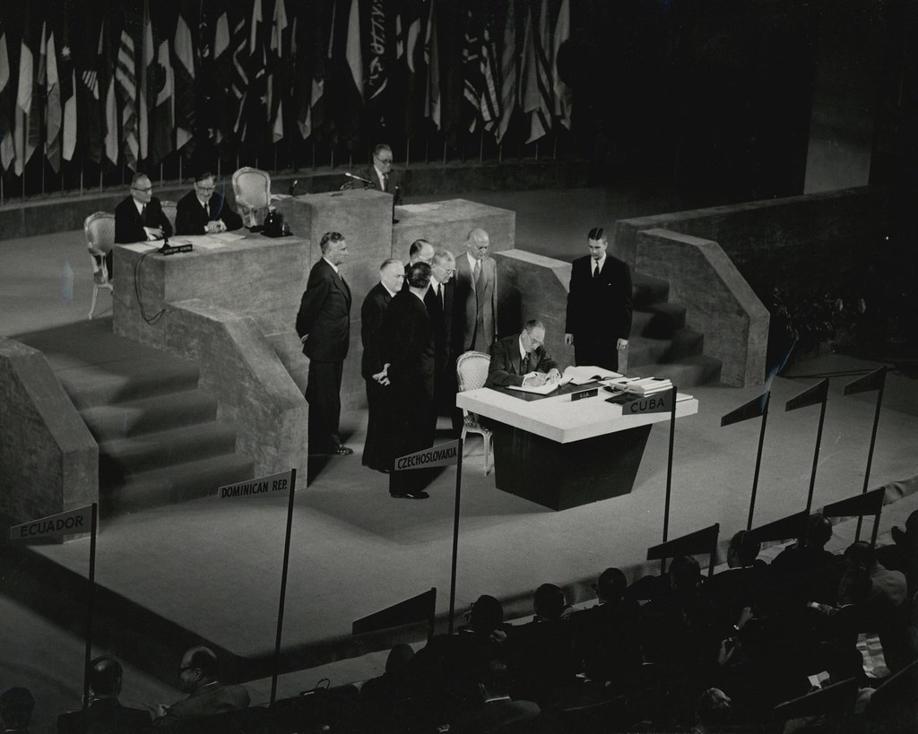 U.S. Secretary of State Dean Acheson signing the Treaty of… | Flickr