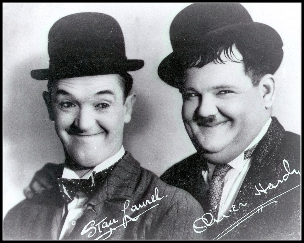 Stanley Laurel and Oliver 'Babe' Hardy.   This hasn't been r