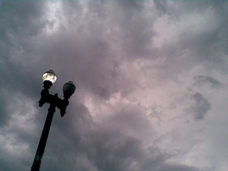 Lamppost and Clouds | by brownpau