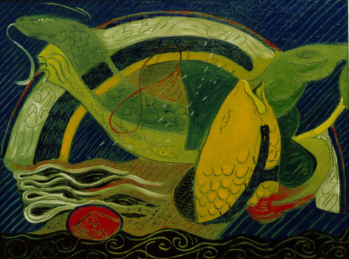 When all the planets are alined Oil painting 1999