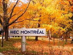 Entrée Louis Colin à HEC Montréal en automne