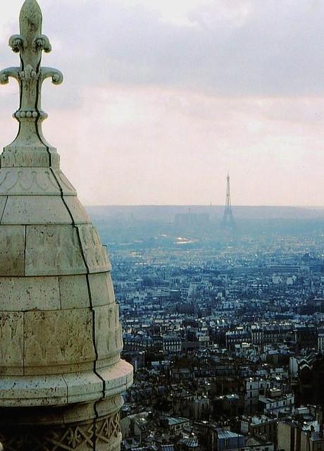 Blick auf Paris vom Dach der Sacre Coeur