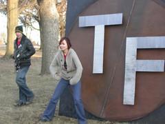 Giant T/F sign