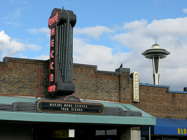 Cafe Mecca and Space Needle
