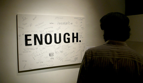 Patrons were asked to write in what they've had enough of... | by Chicago Art Department