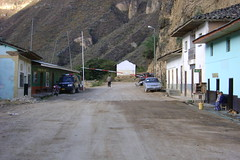 Village of El Tingo - nothing to do but watch the burros go by