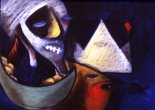 The dream merchant  360 pdi oil paint and pastel  1986