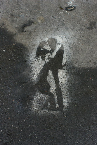 Stencil Couple in black and white | by leafar.
