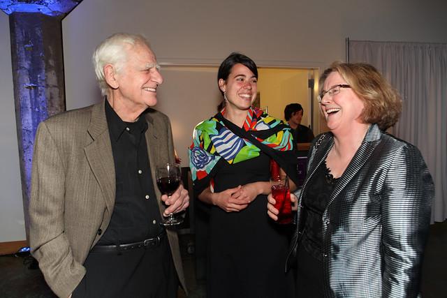Lee Kelly '59, MFA student Christina Conant and Elizabth Leach