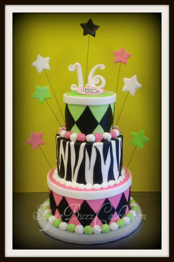 Prime Sweet 16 Whimsical Birthday Cake Buttercream Iced With Fon Flickr Funny Birthday Cards Online Alyptdamsfinfo