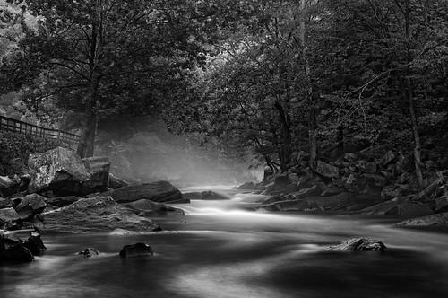 longexposure blackandwhite mist fog river landscape rocks andrews fineart northcarolina gorge nantahala nantahalagorge niksoftware silverefexpro nikond300s