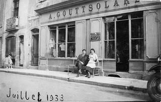 Magasin Gouttsolard à Orgelet en 1933
