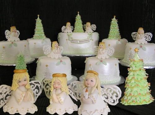 Angel Christmas cakes | by Torki's Sugar Art