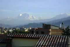 View from our hotel room in Huaraz