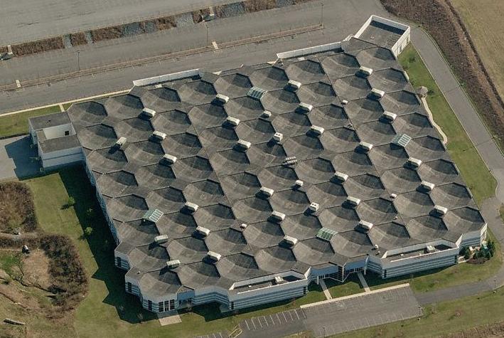 Olivetti-Underwood factory building designed by Louis Kahn, Harrisburg, Pennsylvania