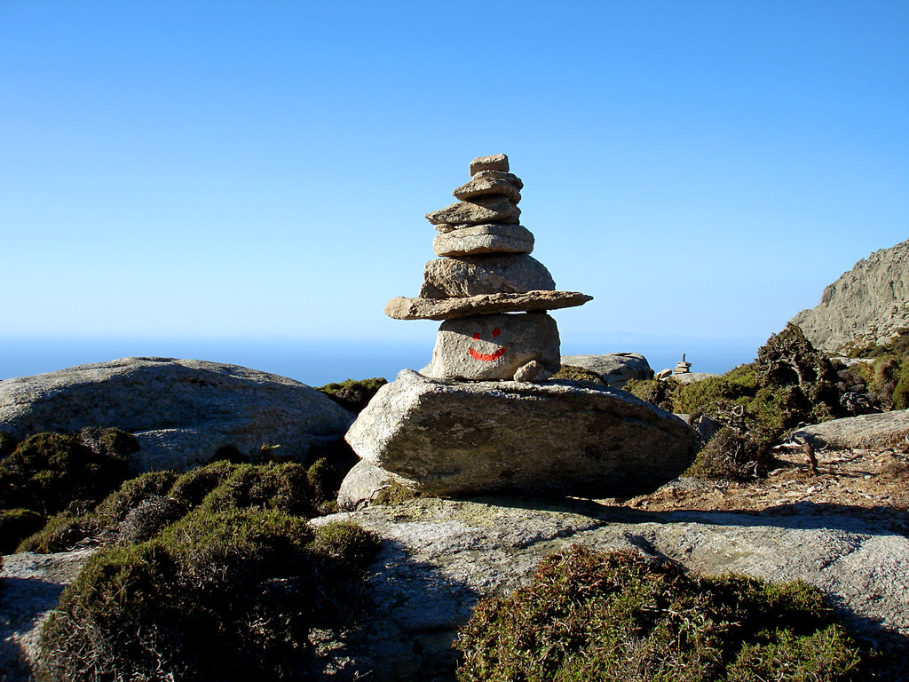 Smiling cairn on the Trail of Atheras by angeloska on Flickr