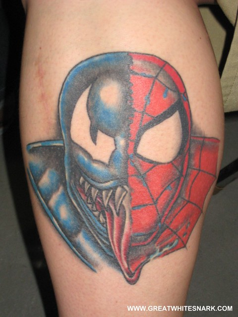 140b0a9e1 ... Spider-Man and Venom Tattoo at San Jose Super-Con 2008 | by Great