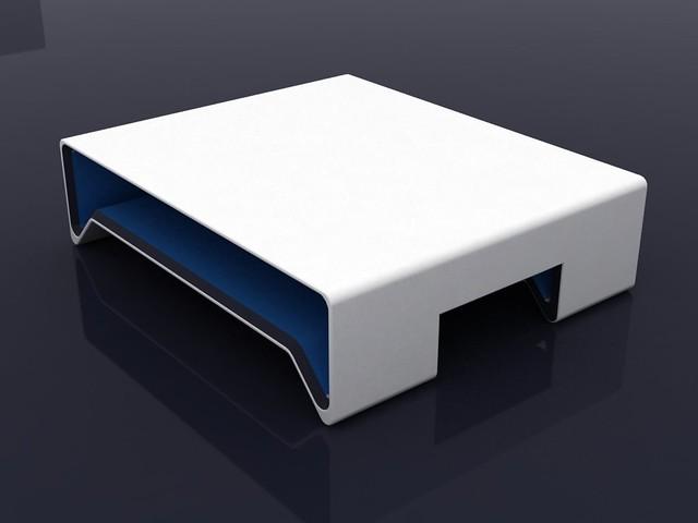 ... Center Table Simple White, Black And Blue | By Juan ValldeRuten.