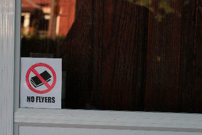 No Flyers Sign in the Wild | by the worms!