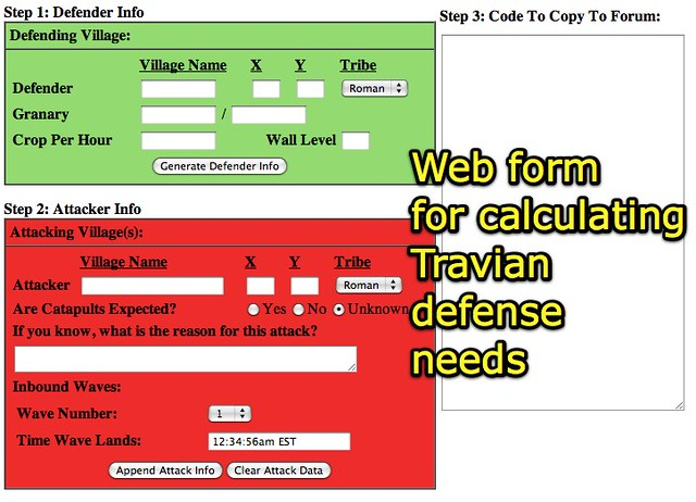 Defense Request Form - Travian | Learn more about Travian fr