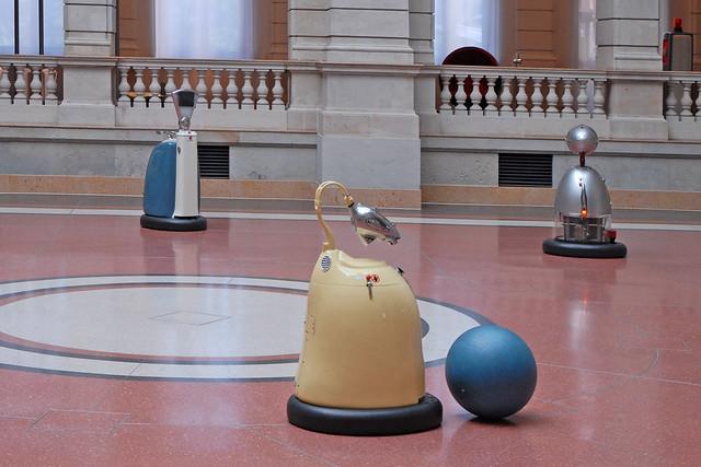 Les robots du musée de la Communication  (Berlin)