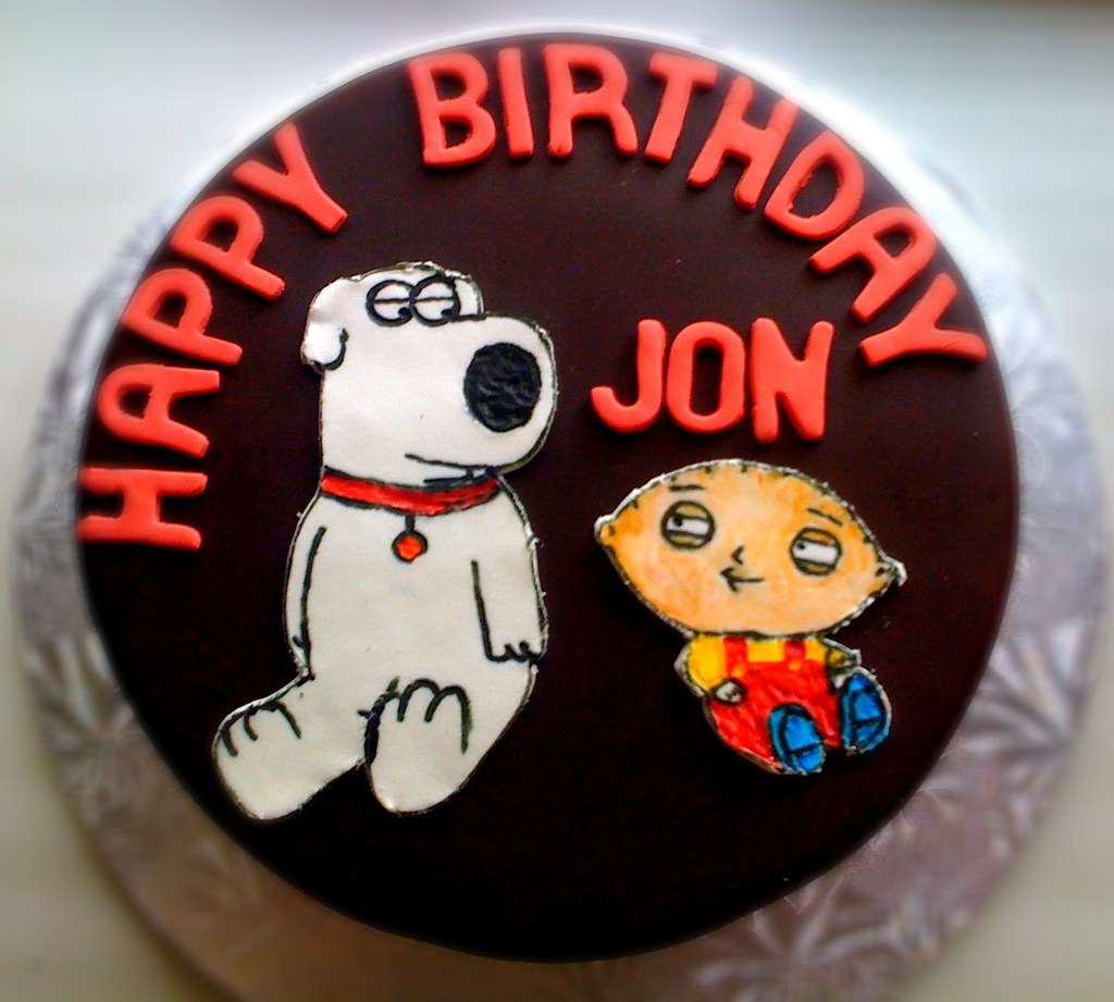 Phenomenal Family Guy Birthday Cake I Was Asked To Make A Surprise Bi Flickr Personalised Birthday Cards Paralily Jamesorg