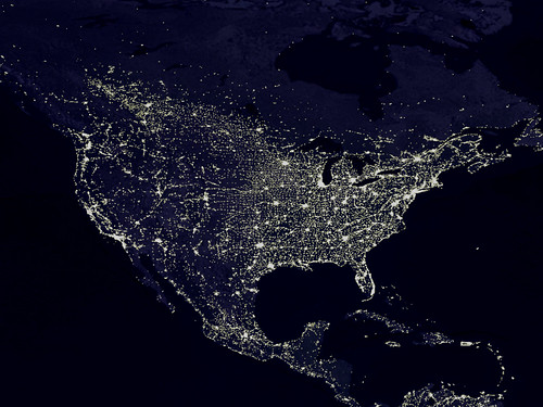 The Night Lights of the United States (as seen from space) | by woodleywonderworks
