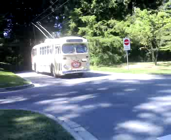 Brill Trolley arrives at the Stanley Park loop