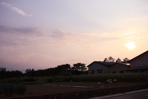 sunset summer sky cloud japan geotagged blog 日本 雲 太陽 夕暮れ 空 yamanashi hokuto akeno 山梨県 北杜市 mrhayata 明野町 geo:lon=138400633 geo:lat=35844556