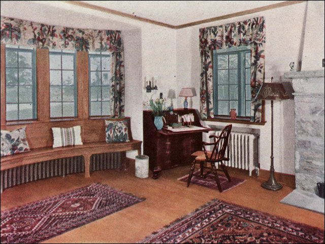 1930 Living Room - Ad for oak floors