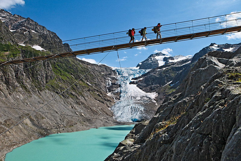 The Trift suspension bridge in the Gadmer valley