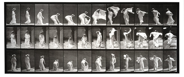 Eadweard Muybridge - Putting It Around Shoulders and Turning, 1887