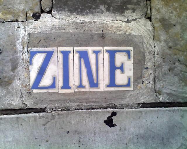 Sidewalk Street Name: [Maga]Zine Street, New Orleans
