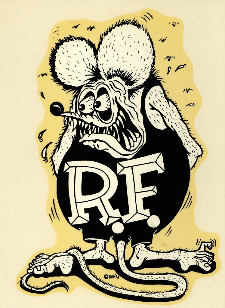 Rat Fink Ed Big Daddy Roth Water Slide Decal C
