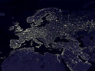 The Night Lights of Europe (as seen from space) | by woodleywonderworks