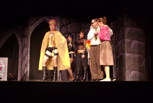 Frank-N-Furter's arrival during the Hilo Community Players' performance of Rocky Horror.