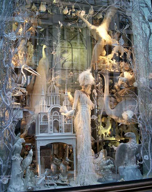 Bergdorf Goodman window: The Seasons: Spring