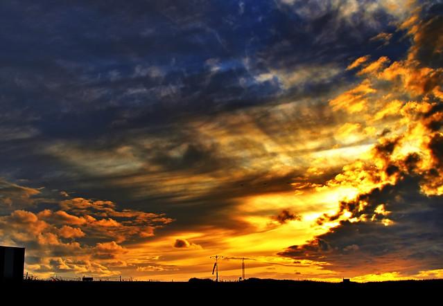 Alderney Airport Sunset